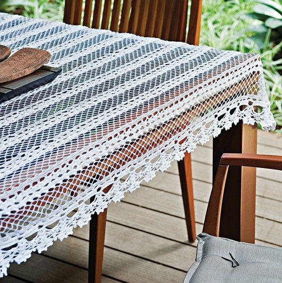 toalha de mesa rendada geniale mel receitas de croch