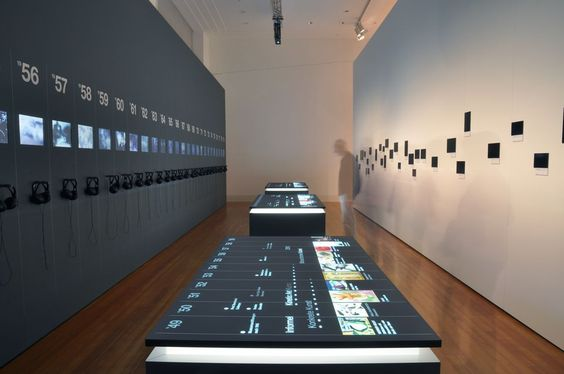 60 Years - 60 Works - media space with central multitouch tables