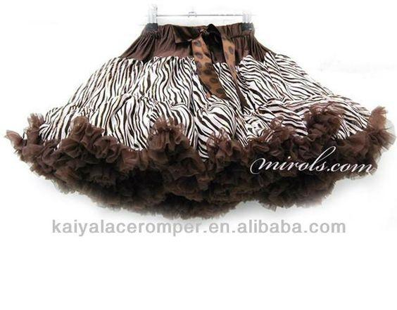 animal print falda tutu 2013 café de cebra tutu falda mini falda--Identificación del producto:812320765-spanish.alibaba.com