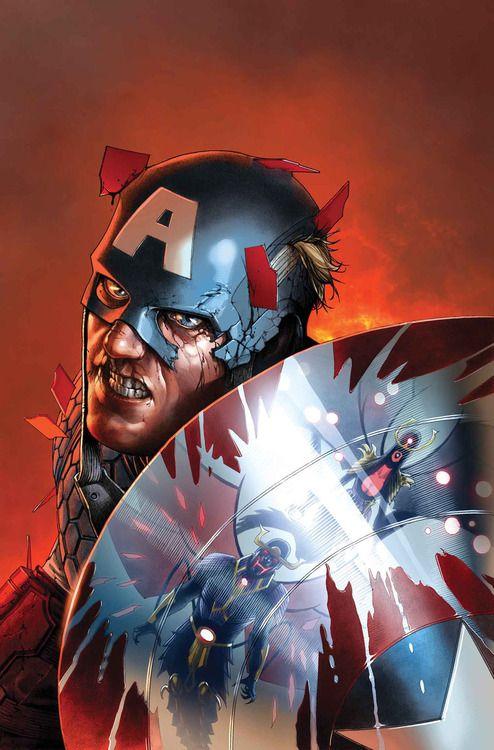 """Steve McNiven - Captain America in """"Uncanny..."""