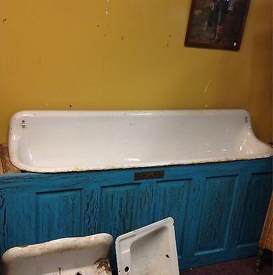 Vintage Cast Iron 6 Foot Trough Urinal Farm Sink Rare