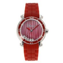 Chopard Happy Sport Red Dial with Red Rubber Strap-Sapphire Glass    $108.00  #cheap #luxury #watches
