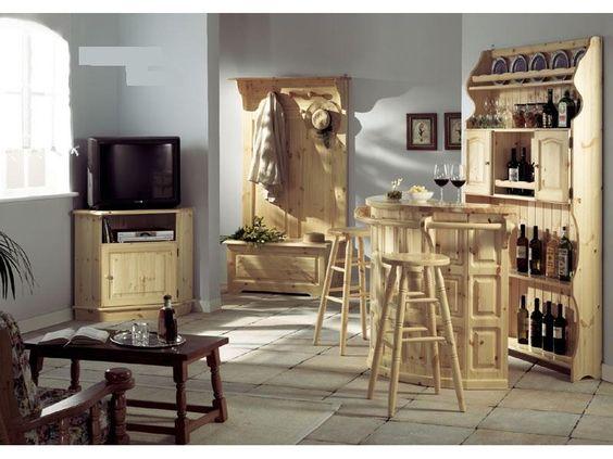 www.mobilificiomaieron.it Soggiorno, o taverna rustica in legno ...