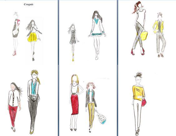 Coleção de moda baseada nas 5 cores escolhidas