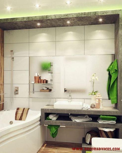 small bathroom decor and lighting decor  Decorating A Small Bathroom