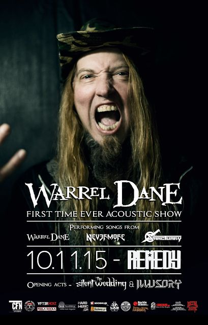 BEHIND THE VEIL WEBZINE BLOG: WARREL DANE (first time ever acoustic show)