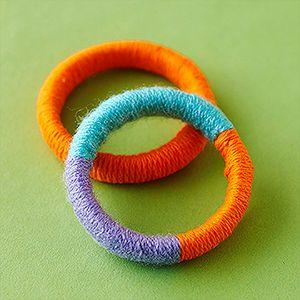 Yarn Crafts Kids Can Make: Yarn Bracelets (via Parents.com)