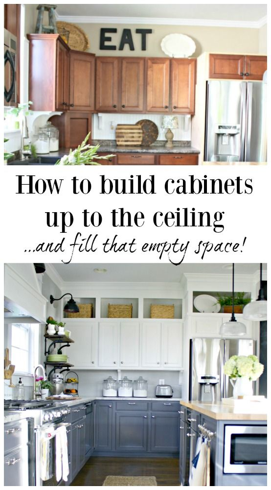 Building Cabinets Up To The Ceiling Kitchen Cabinets To Ceiling Above Kitchen Cabinets Diy Kitchen Remodel