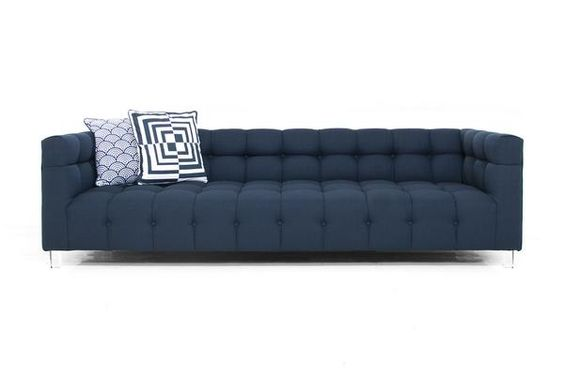 CONTENDER! Color perfect to hide stains...Delano Sofa in Klein Midnight Linen