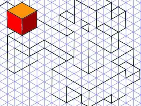 Artoonix - Isometric drawing for young people - YouTube Art Ed - isometric graph paper