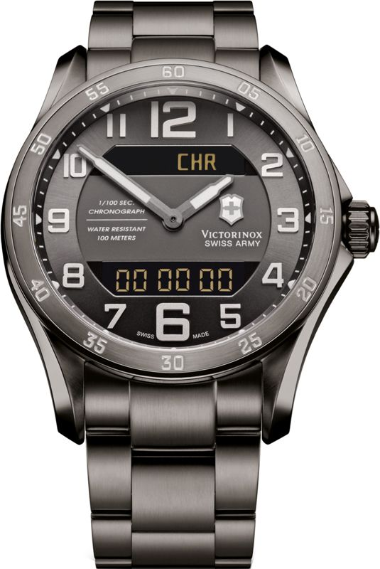 Victorinox Chrono Classic XLS Gunmetal ref. number 241300 spotted on source code with Jake Gyllenhal