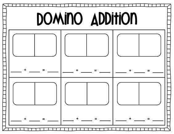 math worksheet : domino subtraction worksheets for kindergarten  math workstations  : Domino Math Worksheets
