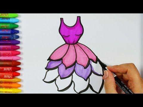 Cómo Dibujar Vestido Púrpura Página Para Colorear Libros