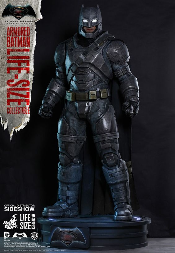 DC Comics Armored Batman Life-Size Figure by Hot Toys
