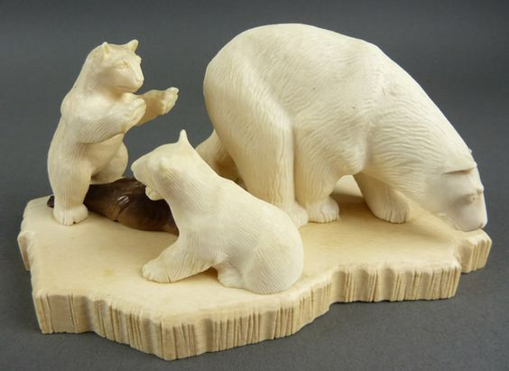 Polar bears cubs and carving on pinterest