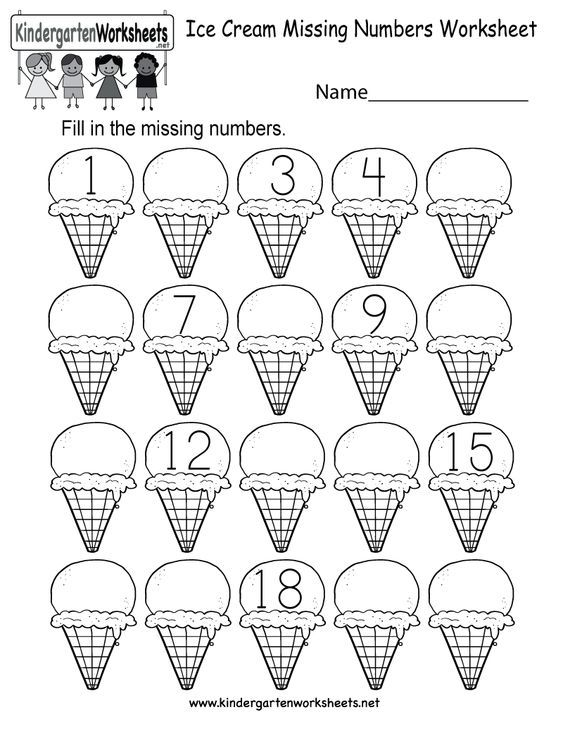 Kids Are Asked To Fill In The Missing Numbers In A Series Of 20 Single Scoop I Kindergarten Summer Worksheets Free Kindergarten Worksheets Numbers Kindergarten Write missing number worksheets