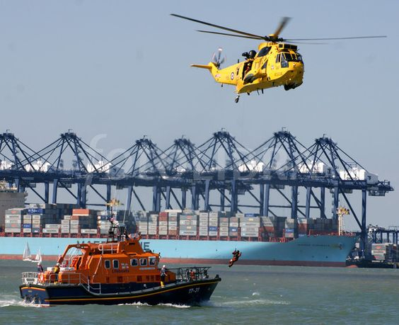 RAF Sea King & Harwich Lifeboat action.