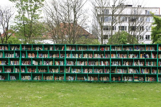 bookyard - an outdoor library by massimo bartolini