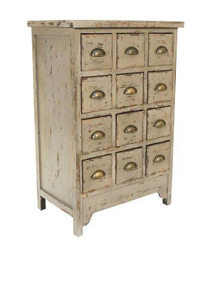 distressed cabinet / meuble patiné