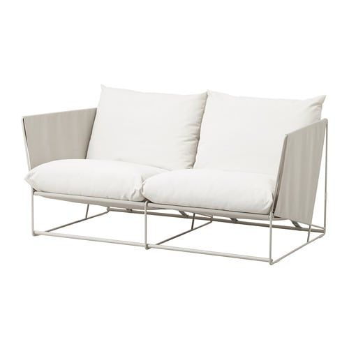 Havsten Canape 2 Places Int Ext Beige Ikea Furniture Lounge Furniture Home Decor