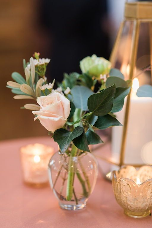 Small Floral Arrangement Mossy Floral Arrangement Small Individua Flower Centerpieces Wedding Wedding Reception Flowers Wedding Reception Flower Arrangements