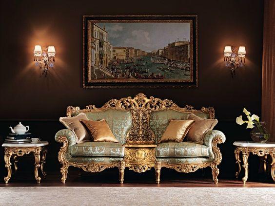 Wohnzimmer im Barock Victorian -Stil einrichten