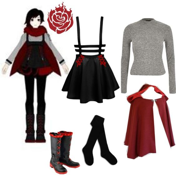 Anime RWBY Ruby Rose Cosplay Costume Shoes Boots Q.166