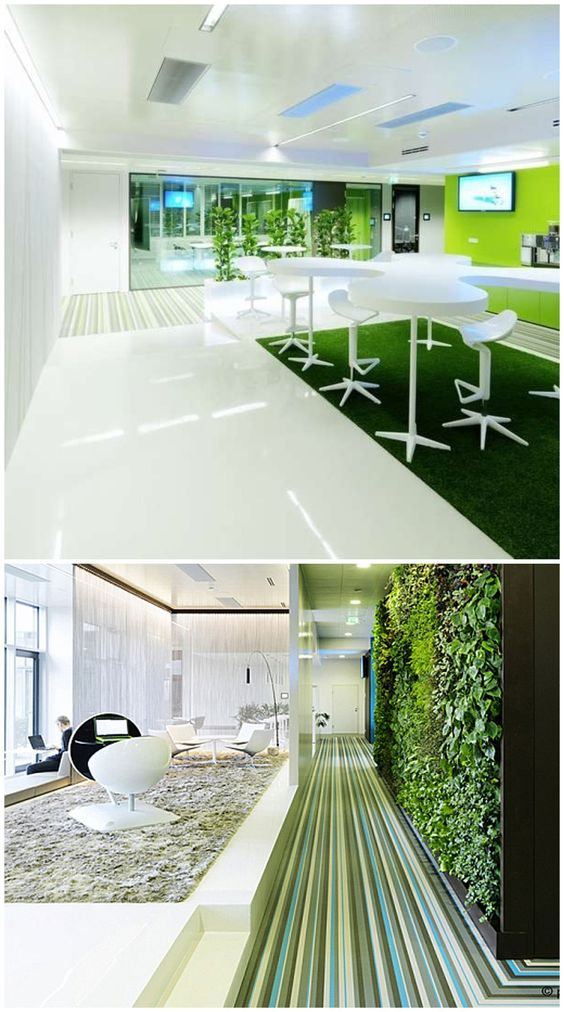 Microsoft Headquarters Office Interior In Vienna Color Office Colorful Workplaces