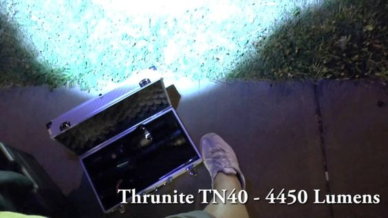 Thrunite TN40 vs Fenix TK70 - Flashlight Beamshot Battle
