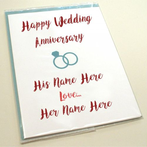 Happy Wedding Anniversary Names Greeting Card Pix With Images