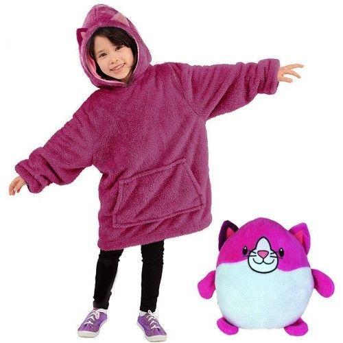 The Comfy Oversized Children/'s Hoody hoodie  Pink Kids Winter Warm
