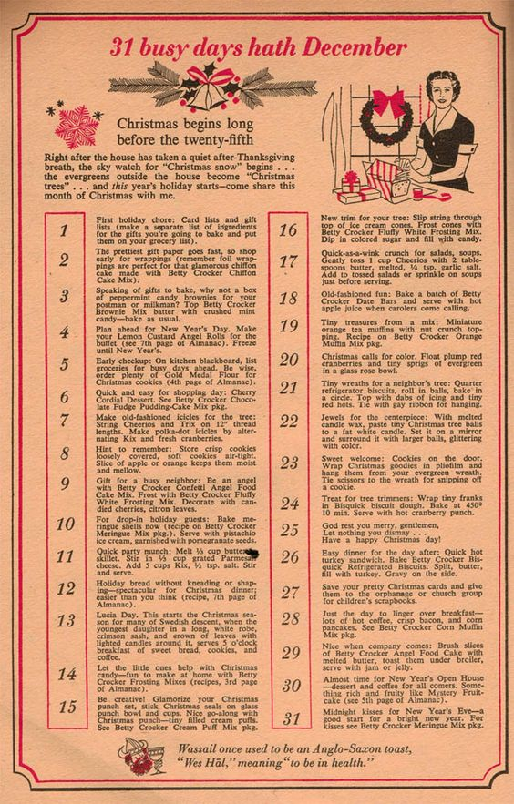 What you really needed to do before Christmas in 1958 (from Dec. 1958 issue of Family Circle)