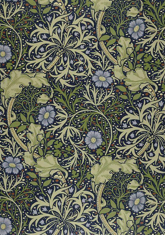 Wallpaper Iconic William Morris Organic Artnouveau Seaweed