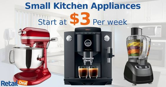 Solutions for smart living, small kitchen #appliances now available with weekly payments of $3. Shop Now - http://bit.ly/1NPIHdt