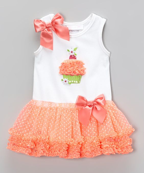 Another great find on #zulily! Gerson & Gerson Peach Cupcake Tutu Skirted Bodysuit - Infant by Gerson & Gerson #zulilyfinds. $18.99