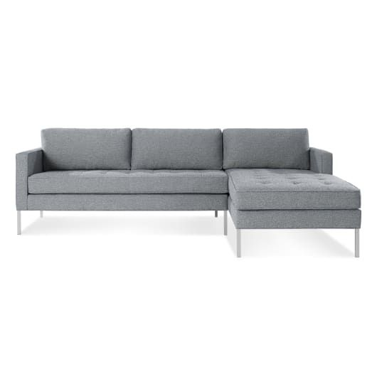 Paramount Sofa With Chaise Tufted Sectional Sofa Modern Sofa
