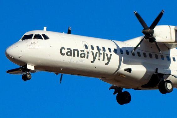 #SPOTTIFLY @Canary_Fly  Máxima concentración en final GCLP #atr72  EC-LZR.  Imagen de Ruth SR (@marea_canaria)