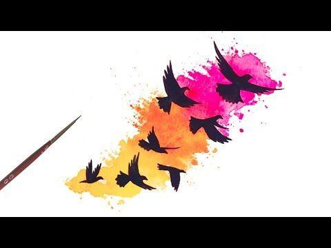 Simple Watercolor Splash Splatter Tutorial For Beginners Youtube