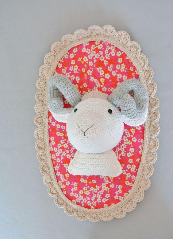 troph e b lier xxl au crochet crochet et d coration. Black Bedroom Furniture Sets. Home Design Ideas