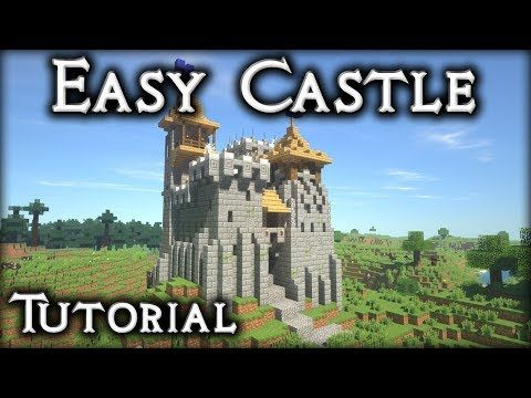 Minecraft Tutorial How To Make A Castle 16x16 Oak Plains
