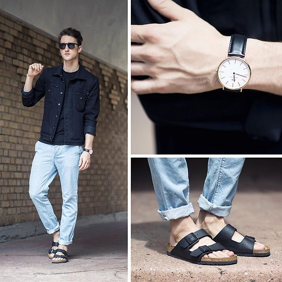 how to wear men sandals