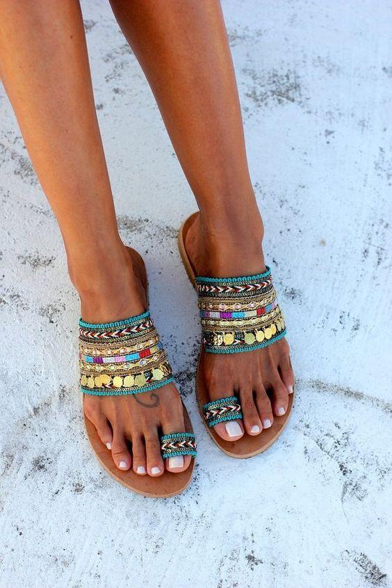 Fabriqués à la main chaussures sandales en cuir grec fait à