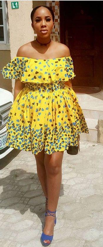 20 Ankara Short Gowns For Ladies (2018)