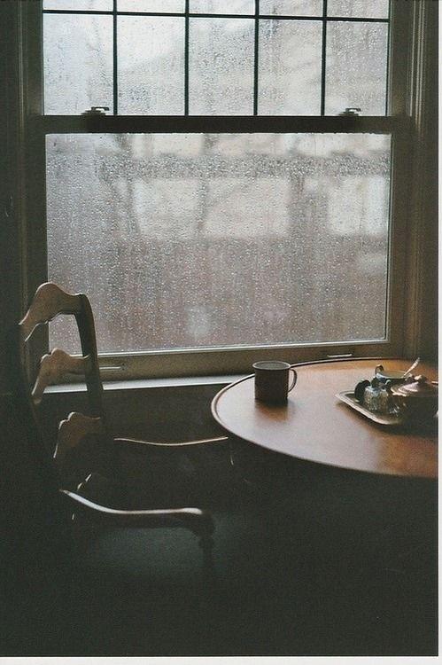 Lluvia, café y pensarme: