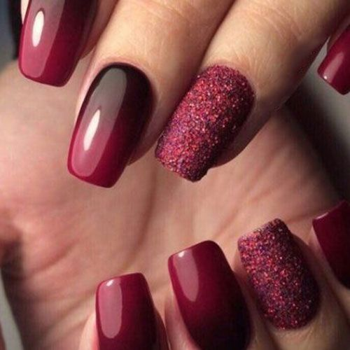 45 Best Fall Nail Polish Colors Cute Trending Ideas For 2020 In 2020 Red Acrylic Nails Burgundy Nail Designs Burgundy Nails