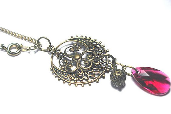 Fushia Pink and Antique Gold Victorian by SisterMoonsCastle