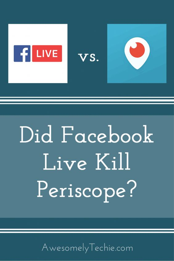 Should You Use Facebook Live or Periscope? | Awesomely Techie