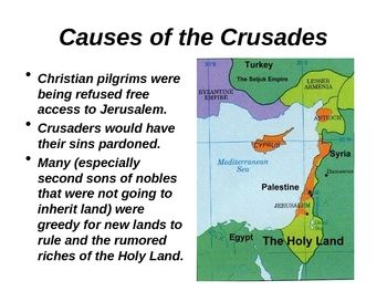essay on the causes of the crusades Impact of crusades on islam and christianity wwwijhssiorg 44 | p a g e himself led the recruitment drive while preaching in his homeland.
