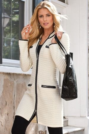 Textured sweater coat | Coats &amp jackets Tunic blouse and Crochet