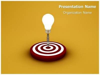 thetemplatewizard presents professionally designed idea target #3d, Powerpoint templates